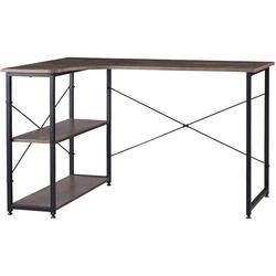 Woltu Schreibtisch TSB34, Schreibtisch mit Bücherregal in L-Form 120x74cm