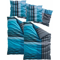 H I S Philip Biber blau (2x155x220+2x80x80cm)