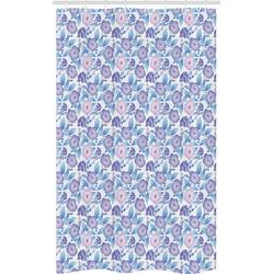 Abakuhaus Duschvorhang Badezimmer Deko Set aus Stoff mit Haken Breite 120 cm, Höhe 180 cm, Garten Exotische Blumen-Blumenstrauß