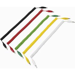 VOLTCRAFT 280MM/0,1/SP Messleitungs-Set [Abgreifklemmen - Abgreifklemmen] 3.20m Schwarz, Rot, Gelb,