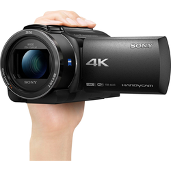 Sony AX43 Camcorder (4K Ultra HD, WLAN (Wi-Fi), NFC, 20x opt. Zoom)