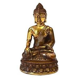 """Thai Buddha"""" Messing antik 4 x 8 cm"""