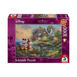 Schmidt Spiele Puzzle Disney Sweethearts Mickey & Minnie, 1.000 Teile, Puzzleteile