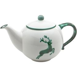 Gmundner Keramik Teekanne Hirsch 1,5 l  (Größe: Grün)