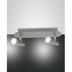 Niko Spot, LED, 10W Nickel satiniert Methacrylat satiniert