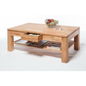 Couchtisch Wohnzimmer Tisch Kernbuche Massiv geölt 115 x 70 cm mit Schubkasten