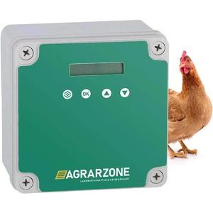 Agrarzone automatische Hühnertür Hühnerklappe ohne Schieber   Türöffner Hühnerstall mit Zeitschaltuhr und Lichtsensor   Netzbetrieb oder Batterie   Hühnerstall-Tür für sichere Hühnerhaltung