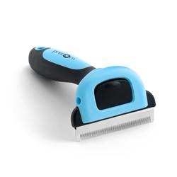 PRECORN Fellbürste Hundebürste Katzenbürste Unterfell-Bürste Hunde-Kamm Fellpflege Hundepflege Pflegebürste blau