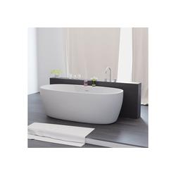 TroniTechnik Badewanne Freistehende Badewanne Anafi, (1-tlg), aus glasfaserversärktem Acryl, mit Überlauf-Ablauf und Push-to-open Abfluss