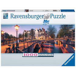 Ravensburger Puzzle Abend in Amsterdam 1000 Teile Panorama Puzzle, Puzzleteile