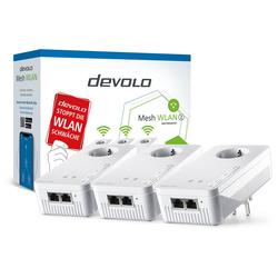 DEVOLO 2400 Mbit/s, 6x GB LAN, bestes Mesh Tri-Band) Netzwerk-Switch (Mesh WLAN 2 Multiroom Kit)