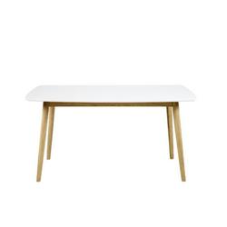 ebuy24 Esstisch Naila Esszimmertisch 80 x 150 mit weißer Holztisch