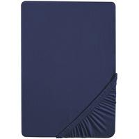 Biberna Frottee-Stretch blau 140-160 cm x 200 cm