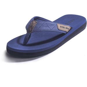 FITORY Herren Flip Flops Beach Sandalen Surfen Zehentrenner Sommerschuhe Blau Gr.42