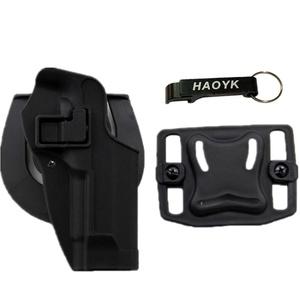 JOYASUS Taktische Pistole Holster, Airsoft Pistole Concealment Ziehen Rechtshänder Paddle Gürtel Pouch für M9 M92 (Schwarz)