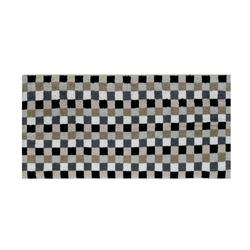 Cawö Handtuch Lifestyle Karo in kiesel, 50 x 100 cm