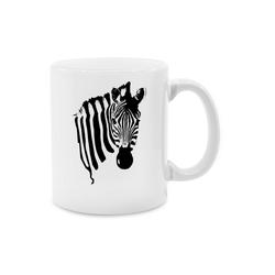 Shirtracer Tasse Zebra - Wildnis - Tasse zweifarbig - Tassen, zebra tasse