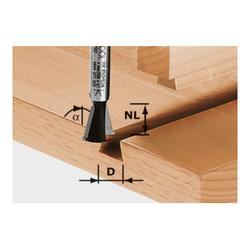 Festool Grat-/Zinkenfräser HW Schaft 8 mm HW S8 D14,3/13,5/15°