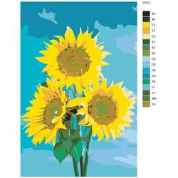 """Malen nach Zahlen """"Sonnenblume"""", 40x60cm, KTMK-CH12"""