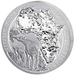 1 Unze Silber Ruanda Okapi 2021