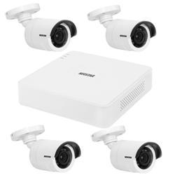 Netzwerk-IP Videoüberwachung Set für Außenbereich 4xIR Netzwerkkamera H.264, 4 Kanal IP Netzwerk Rekorder NVR -IS-IPKS19