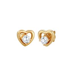 ELLI Damen Ohrringe 'Herz', Doppelstecker gold / silber, Größe One Size, 4456523