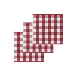 Lashuma Handtuch Set (Set, 3-tlg), Küchentücher Frottee, Geschirrtücher 50x50 cm rot