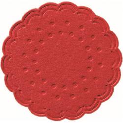 Duni Tassenuntersetzer Ø 7,5cm, 8lg rot - 12x250 Stück