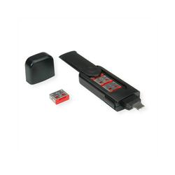 ROLINE USB Typ A Port Blocker, 4x Schloss und 1x Schlüssel Adapter