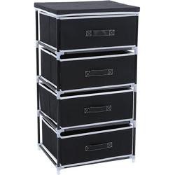 SONGMICS Aufbewahrungsbox RLG14H, Aufbewahrung Garderoben Schubladenschrank Stoffschrank, schwarz