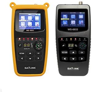 SATLINK Satellite Finder Meter DVB-S2/S HD Digital Sat Finder Mit 2.1 inch LCD Display Kompass Satmessgerät (WS-6933)