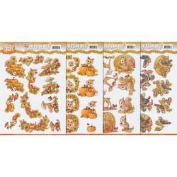 VBS Motivpapier Herbstzauber, 3D, 4 Blatt