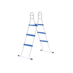 RAMROXX Poolleiter Poolleiter mit 3 blauen Stufen bis 105cm für Bestway Intex Pool Swimmingpool, bis zu einer Beckenhöhe von 105cm
