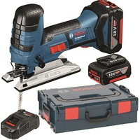 Bosch GST 18 V-LI S Professional inkl. 2 x 4 Ah + L-Boxx (06015A5102)