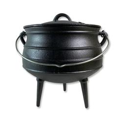 GEORGES Schmortopf Potjie Pot, Südafrikanischer Dutch Oven Kochtopf aus Gusseisen mit Füßen Pot 3 (ca. 8 Liter)