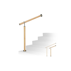 relaxdays Außentreppe Treppengeländer Holzoptik