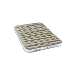 Ribelli Luftbett, Ribelli Luftbett Gästebett Luftmatratze grau/weiß PVC Beflockung 203 x 152 cm