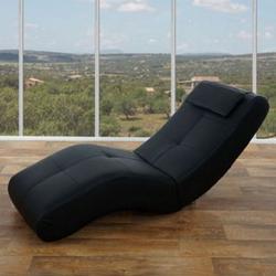 Relaxliege Forli II, Recamiere Chaiselongue, 76x67x168cm ~ Kunstleder, schwarz