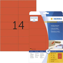 Herma 5059 Etiketten 105 x 42.3mm Papier Rot 280 St. Permanent Universal-Etiketten, Signal-Etiketten