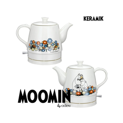 MOOMIN Wasserkocher MOOMIN 19130005 Keramik Wasserkocher by ADEXI Wasserkocher in Teekannen-Form, Mumin Design, Flower Pot Design, 0.80 l, 1750 W