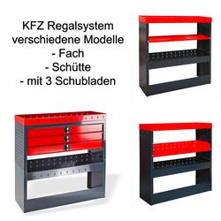 KFZ-Regalsystem / Einbauregal verschiedene Ausführungen, Regalsystem: mit Schütte