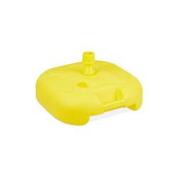 relaxdays Kunststoffschirmständer Sonnenschirmständer gelb