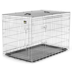 zoomundo Faltbarer Tierkäfig / Transportbox - Silber Größe XXL