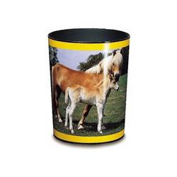 Papierkorb Motivposter 13 Liter Pferd und Fohlen