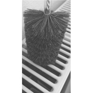 EXCOLO Original Reinigungsbürsten gegen Staub im Heizkörper Heizungsreinigung Bürste Heizkörperreinigung Heizkörperbürste 120 cm lang Borsten aus Ziegenhaar