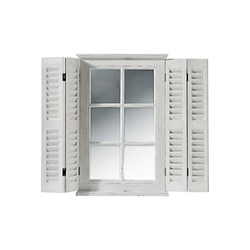 Spiegelfenster als Wanddeko weiß