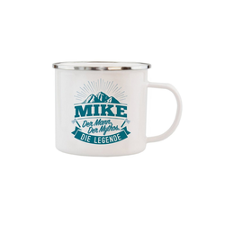 HTI-Living Becher Echter Kerl Emaille Becher Mike, Emaille