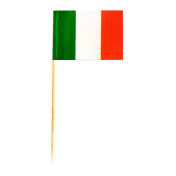 Flaggenpicker Fahnenpicker Deko-Picker Land 'Italien', 100 Stk.