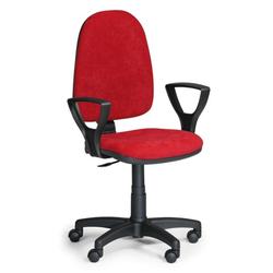 Bürostuhl torino mit armlehnen, dauerkontakt-rückenlehne, rot