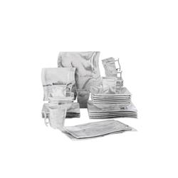MALACASA Kombiservice FLORA (32-tlg), Porzellan, 32 Tlg. Marmor Porzellan Geschirrset